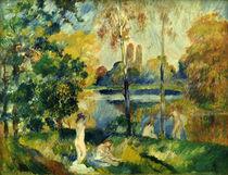 A.Renoir, Landschaft mit Badenden by AKG  Images
