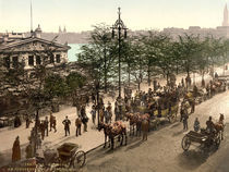 Hamburg, Jungfernstieg / Photochrom by AKG  Images