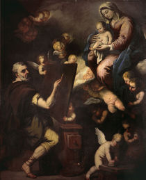 L.Giordano, hl. Lukas malt die Madonna by AKG  Images
