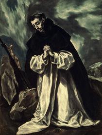 El Greco, Hl.Dominikus im Gebet by AKG  Images