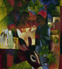 August Macke, Markt in Tunis by AKG  Images