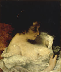 G.Courbet, Dame mit Spiegel by AKG  Images