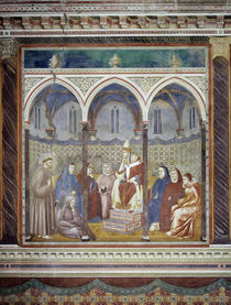 Giotto, Franziskus vor Honorius III. by AKG  Images