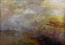 W.Turner, Stuermische See mit Delphinen by AKG  Images