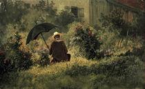 C.Spitzweg, Selbstbildnis im Garten/1865 by AKG  Images