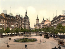 Frankfurt am Main, Rossmarkt / Photochrom von AKG  Images