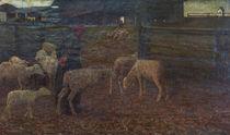 G.Segantini, Rueckkehr zum Schafstall by AKG  Images