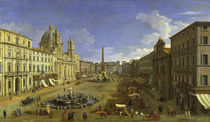 Rom, Piazza Navona / Canaletto by AKG  Images