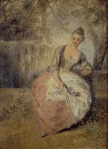 Watteau,Antoine/L'Amante inquiete/um1716 by AKG  Images