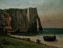 G.Courbet, Felsenkueste bei  tretat by AKG  Images