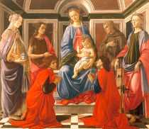 Botticelli, Thronende Madonna von AKG  Images