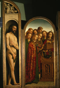 Jan van Eyck, Genter Altar, Adam / 1432 von AKG  Images