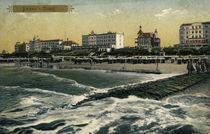 Borkum, Strand / Postkarte (Photochrom) von AKG  Images