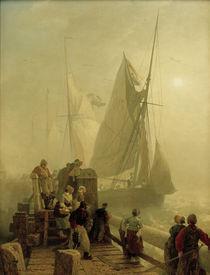 Andreas Achenbach, Einlaufende Schiffe by AKG  Images