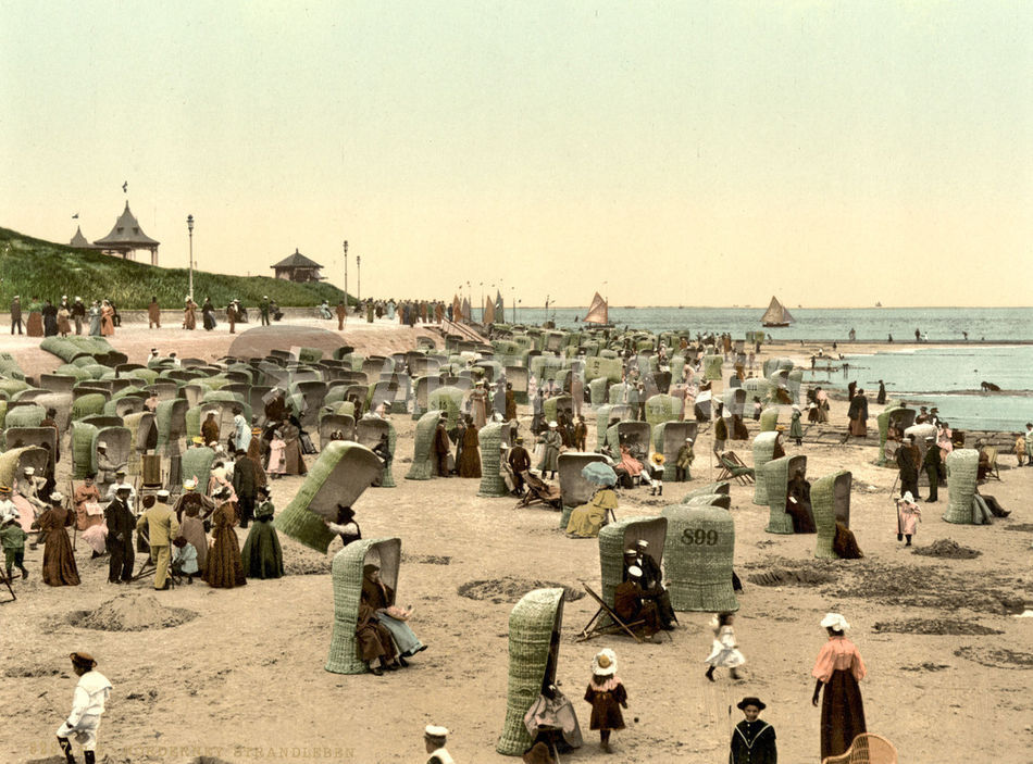 """""""norderney strand  photochrom"""" bild als poster und"""
