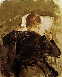 A.Macke, Zeitung lesende Frau, 1906 by AKG  Images