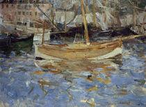 B. Morisot, Der Hafen von Nizza von AKG  Images