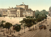 Leipzig, Neues Theater / Photochrom von AKG  Images