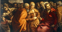 J.Tintoretto, Christus und Ehebrecherin by AKG  Images