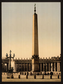 Rom, Petersplatz, Obelisk / Photochrom by AKG  Images