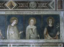 Simone Martini, Hl.Elisabeth, Klara u.a. von AKG  Images