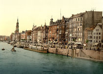 Hamburg, Dovenfleet / Photochrom by AKG  Images