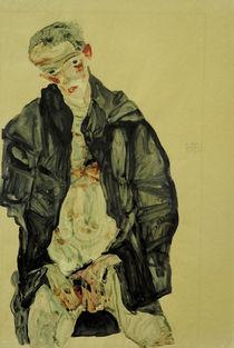 Egon Schiele, Selbstbildnis, Halbakt von AKG  Images