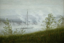 C.D.Friedrich, Elbschiff im Fruehnebel by AKG  Images