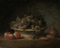 J.B.S.Chardin, Korb mit Weintrauben von AKG  Images