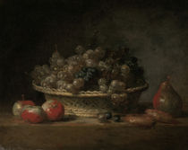 J.B.S.Chardin, Korb mit Weintrauben by AKG  Images