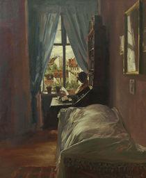 A.v.Menzel, Schlafzimmer des Kuenstlers by AKG  Images