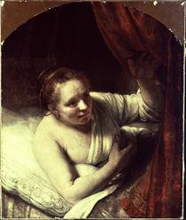 Rembrandt, Junge Frau im Bett von AKG  Images