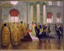 Hochzeit Nikolaus II./ Gem von Repin by AKG  Images