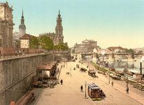Dresden, Bruehlsche Terrasse / Photochrom by AKG  Images