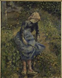 C.Pissarro, Jeune Fille a la Baguette/18 von AKG  Images