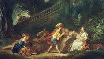 J.H.Fragonard, Spiel im Park by AKG  Images