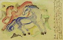 Franz Marc, Rotes und blaues Pferd von AKG  Images