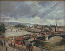 C.Pissarro, Grosse Bruecke, Rouen, Regen von AKG  Images