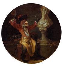 A.Watteau(Nachfolge), Affe als Bildhauer by AKG  Images