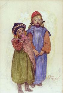C.Larsson, Tischler Hellbergs Kinder von AKG  Images