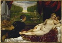 Tizian, Venus mit dem Orgelspieler by AKG  Images