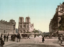 Paris / Qaui Saint Michel / Photochrom by AKG  Images