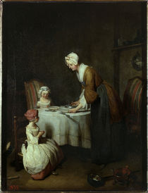 J.B.S.Chardin, Tischgebet by AKG  Images