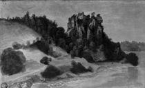 Albrecht Duerer, Schlossruine auf Felsen von AKG  Images