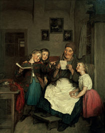 F.G.Waldmueller, Grossmutter & Enkel von AKG  Images