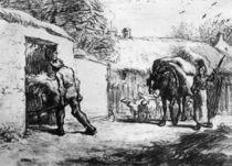J.F.Millet, Bauern bei der Arbeit by AKG  Images