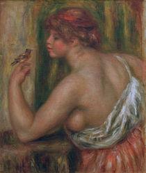 A.Renoir, Frau mit Voegelchen von AKG  Images