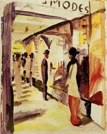 A.Macke, Eine Ladenstrasse unter Lauben by AKG  Images