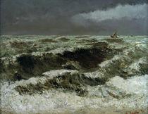 Gustave Courbet, Wellen mit Segelbooten von AKG  Images