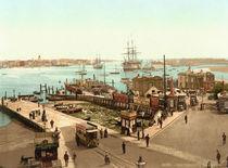 Portsmouth, Hafen / Photochrom um 1895 von AKG  Images